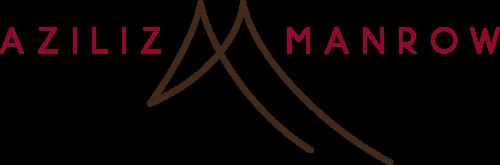 LOGO_AZILIZ_MANROW_MARRON ET ROUGE